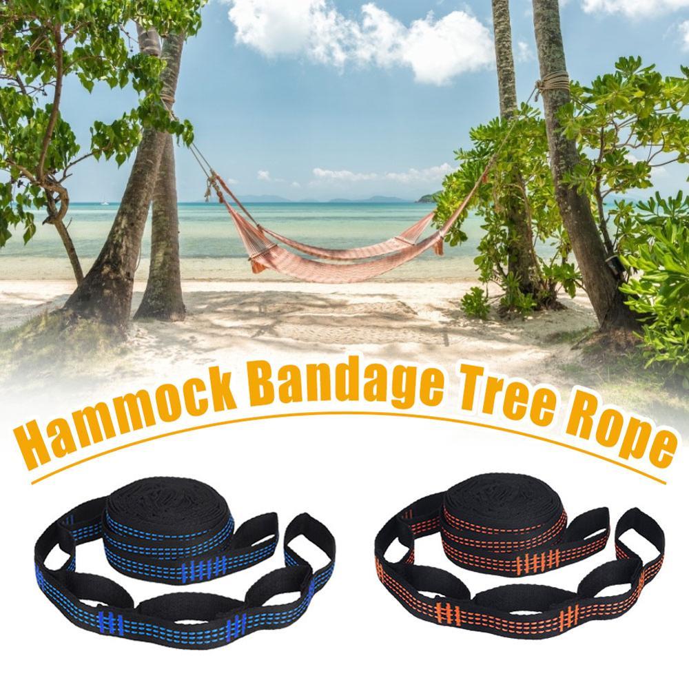 2pcs Hammock Strap 200cm Tree Hanging Spare Part Outdoor Aerial Yoga 200KG Load Portable Outdoor Camping Hammock