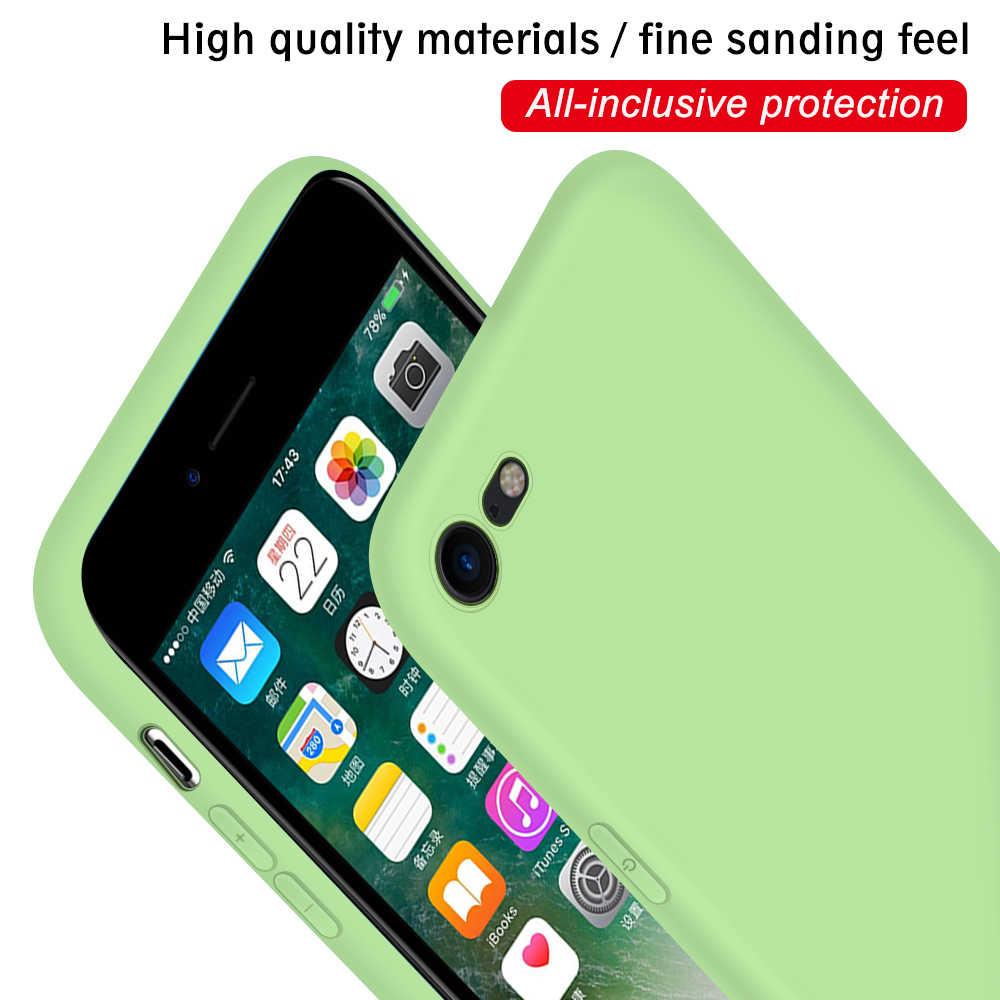 Casos de Cobertura de doces Para o iphone 7 8 Plus 6 6S 7 8 5 5S se Caso TPU Silicone Macio de volta Para o iphone X XR XS Max 11 Pro Max Caso Fundas