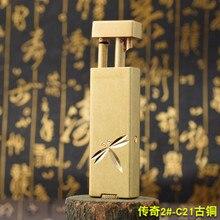 Creative Pull Fire Brass Kerosene Lighter Nostalgic Mechanical Windproof Complex Classical Tibetan Torch Gasoline Lighter