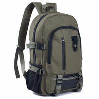 Mochila de lona Vintage para hombre, bolso deportivo de viaje, mochila de Camping