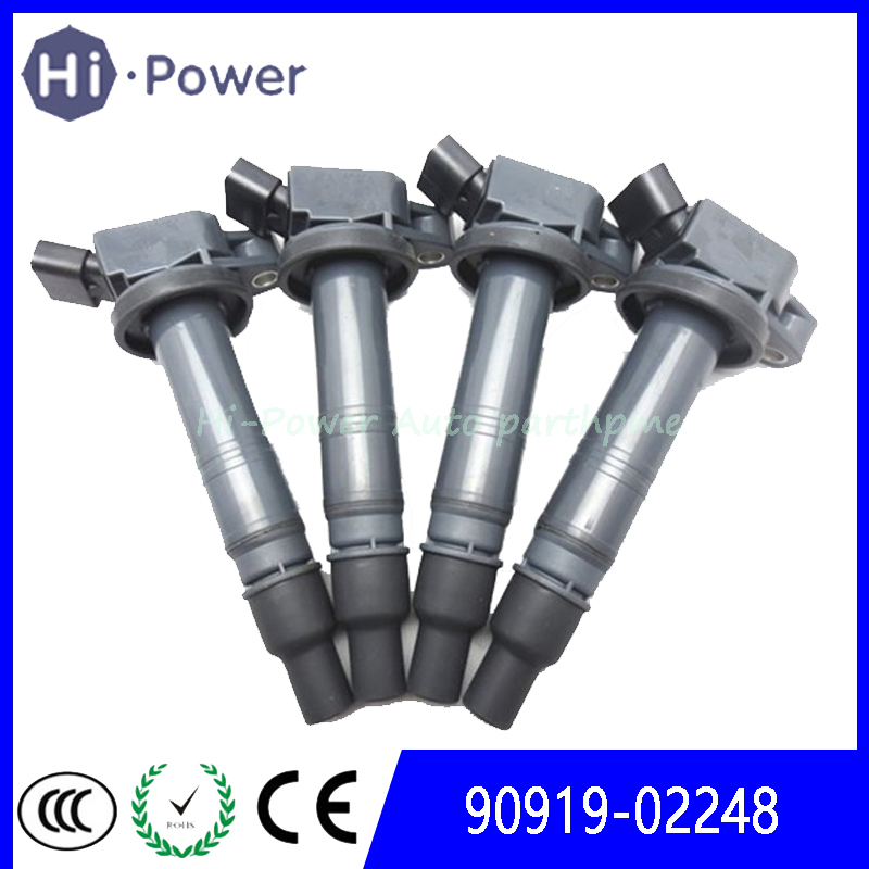 Ignition Coil <font><b>90919</b></font>-<font><b>02248</b></font> <font><b>90919</b></font>-02247 for Corolla XRS Sedan 4-Door 2.4L Tacoma 4.0 4Runner 4.0 V6 2009/ Camry 2.4 L4 2AZFE image