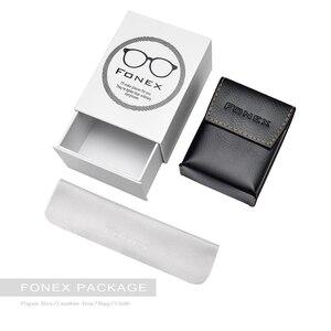 Image 5 - FONEX באיכות גבוהה מתקפל קריאת משקפיים גברים נשים מתקפל פרסביופיה קורא רוחק Diopter משקפיים ללא בורג LH012