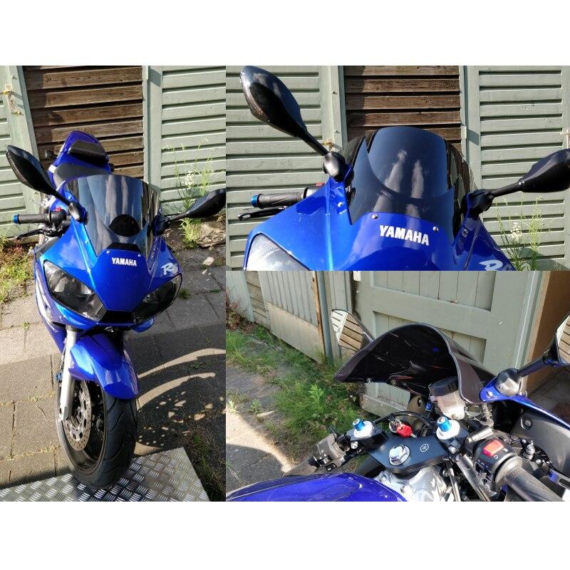Ветровое стекло для Yamaha YF R6 600, синие, черные, ветряные дефлекторы, ветровое стекло для 1998, 2000, 2001, 2002, Iridium