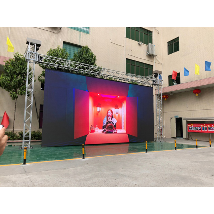 P4.81 Outdoor LED Display 500×1000mm Rental Cabinet, SMD1921 1/13scan HD Big Display Full Color LED Advertising Screen