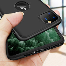 Funda protectora cobertura completa 360 para iPhone 11 Pro Max 7 8 Plus funda protectora para iPhone 6 6X8 s 7 Plus 5 5S SE con vidrio(China)