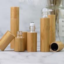цена на 3/5/10ml Glass Roll On Bottle Empty Cap Oil Bottle Stainless Roll On Ball Perfume Aromatherapy Bottle Refill Oil Roller Bottle