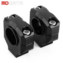 One Pair CNC Aluminum Motorcycle Handlebar Mounts Riser Clamp Dirt Bike Handle Bar Mount Fat Bar Adapter 22mm / 28mm 22mm 28mm motorcycle handlebar riser handle bar riser adapter stem riser 7 8 1 1 8 fat bar clamp for yamaha r1 r3 r6 for bmw