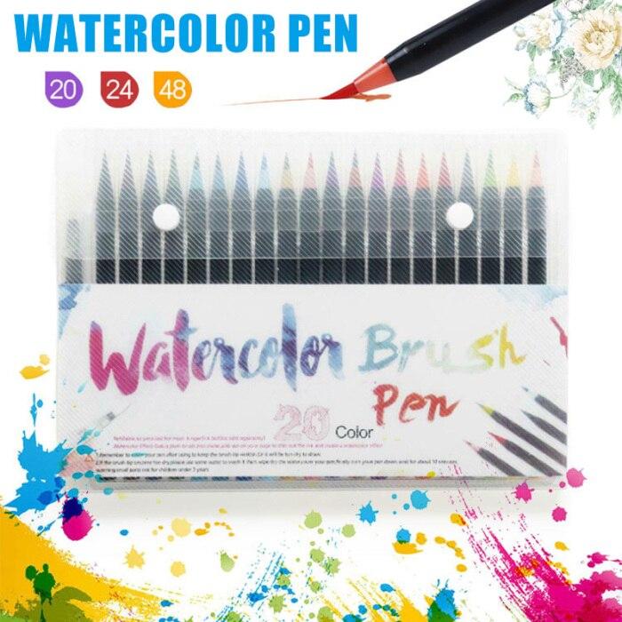 aquarela caneta definido para a escola vh99