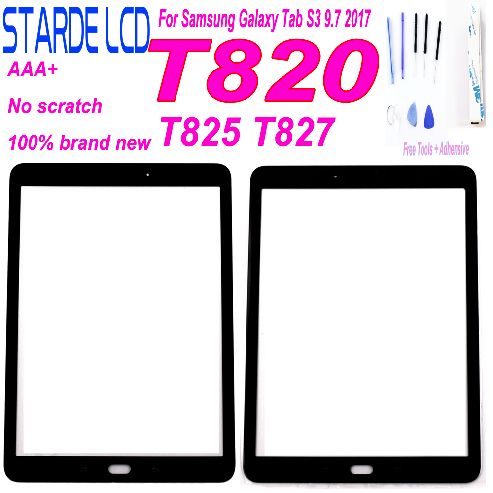 1 Pcs For Samsung Galaxy Tab S3 9.7 2017 T820 T825 T827 Front Glass 9.7