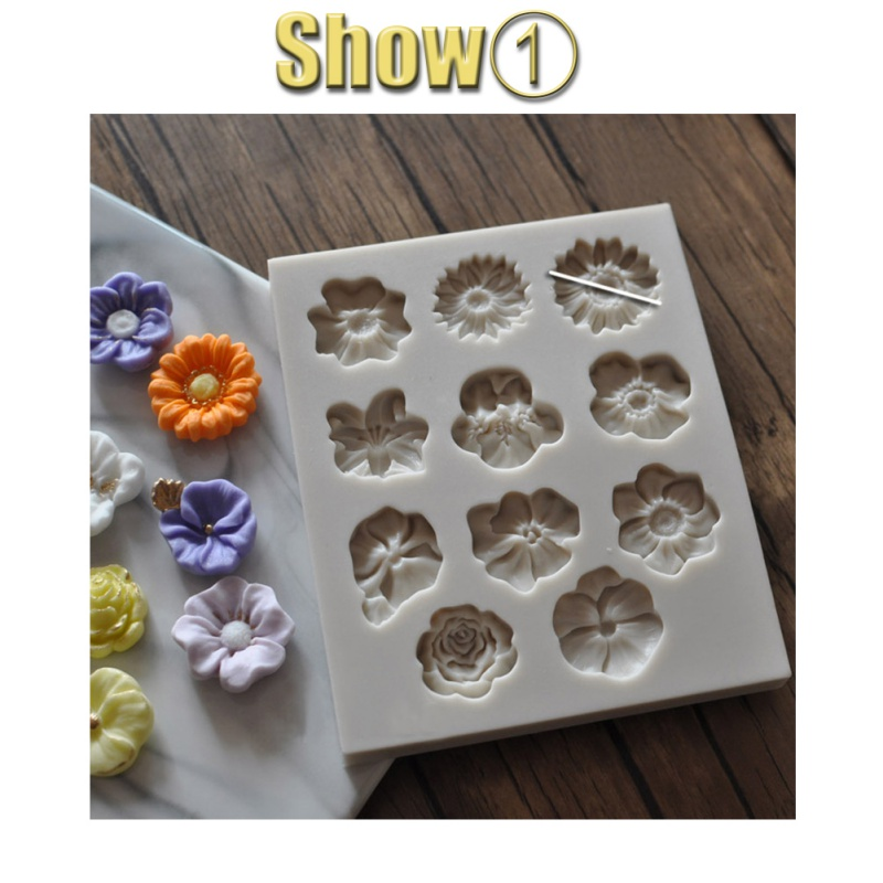 DIY 3D Silicone Flower Cake Molds Baking Sheet Bakeware Cookie Mold Pastry Decor Kitchen Tool