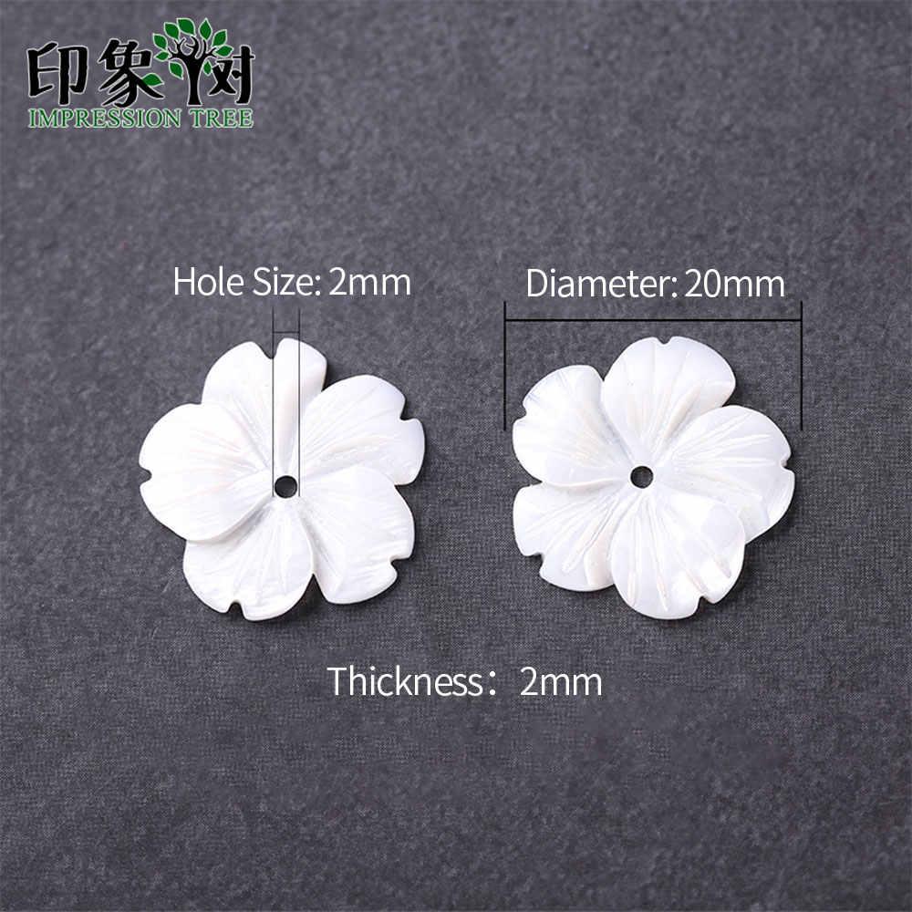 1 pçs 20mm carven branco concha flor puro material natural pétalas 3d contas de flores para feito à mão colar diy jóias fazendo 19052