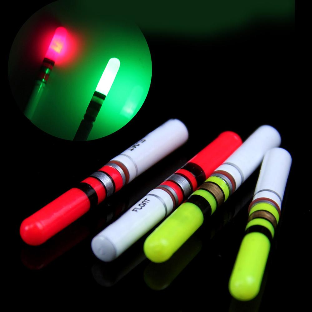 10Pcs green/red night fishing float, LED floating night fishing gear powered by CR322 battery