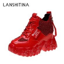 Женские кроссовки; Сезон весна; 2020; Блестящая дышащая обувь