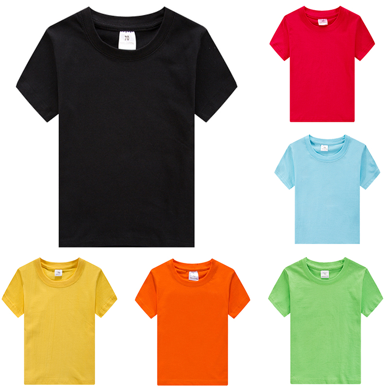 Tees T-Shirts Tops Short-Sleeve Blank Teenagers Girls Boys Solid-Color for 3-12y/Teenagers/Solid-color/..