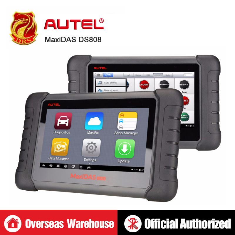 Autel MaxiDAS DS808 OBD2 Scanner Full System Automotive Diagnostic Tool OBDII Scan Tool Key Programming Machine Multi language-in Анализатор двигателя from Автомобили и мотоциклы