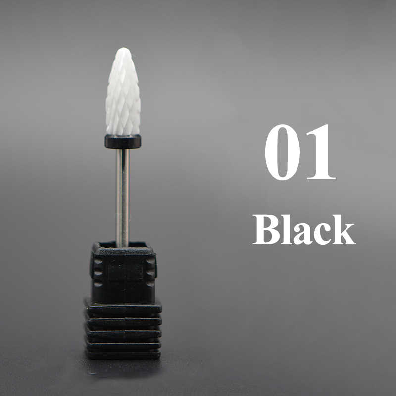 Конусный наконечник для ногтей керамическое сверло Электрический для удаления кутикул вращающийся для маникюра педикюра Шлифовальная головка инструмент для шлифования 1 шт.