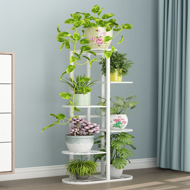 Iron Art Flower Airs Multi-storey Indoor A Living Room Balcony Frame Household Flowerpot Frame Green Laojia Landing Type Shelf