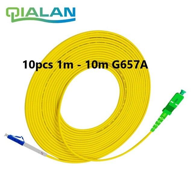 סיבים אופטי תיקון כבל LC UPC כדי SC APC 1m אופטי כבל LC G657A מגשר אופטי סימפלקס סיבים 2.0mm PVC LC SC מחבר