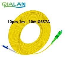 Lwl patchkabel LC UPC zu SC APC 1m Optische Kabel LC G657A Optische Jumper Simplex Faser Kabel 2,0mm PVC LC SC Stecker
