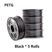Sunl Petg 3D Printing Filament 1.75Mm Petg Gloeidraad 5Kg Voor 3D Printeing 1Kg/2.2LBS Met Spool tolerantie +/-0.02Mm