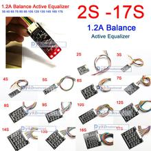 2 S 17 S 1.2A BALANCE Active Equalizer BMS Li Ion Lifepo4 LTO ป้องกันแบตเตอรี่ลิเธียม 4S 6S 7S 8 10S 12S 13S 14S 16S