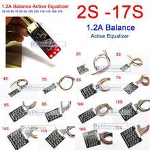2 S 17 S 1.2A איזון פעיל אקולייזר לוח BMS ליתיום Lifepo4 LTO ליתיום סוללה הגנה 4S 6S 7S 8S 10S 12S 13S 14S 16S