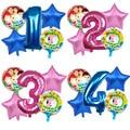 5 шт. Cocomelon тема Алюминий Фольга шар Baby Shower День рождения украшение шары для вечеринок воздушные Globos детские игрушки