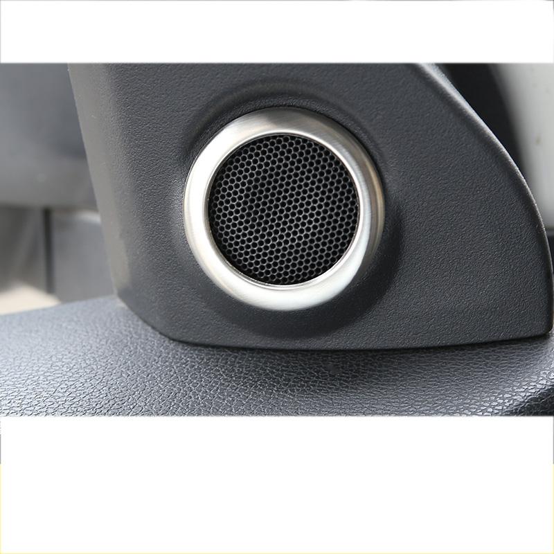 Lsrtw2017 Car Front Door Tiandle Sound Speaker Ring for Mitsubishi Outlander Sport Asx RVR 2011-2016 Interior Accessories audio
