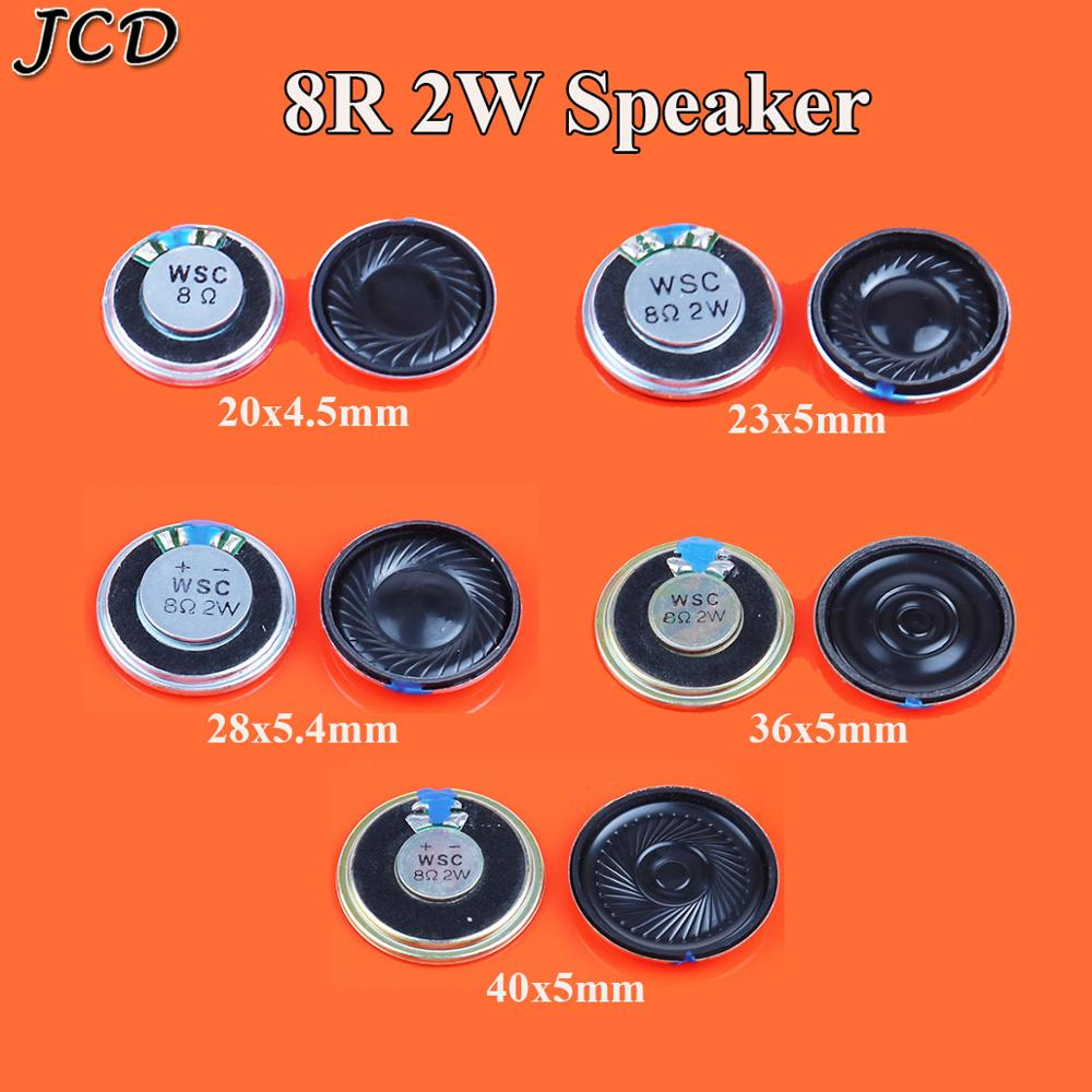 JCD Speaker 2W 8 Ohms 8R 8Ohm Speakers Diameter 20mm 23mm 28mm 36mm 40mm Small Horn