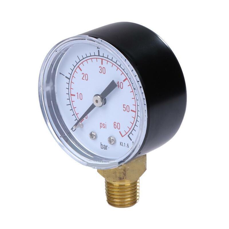 Pool Spa Filters Water Pressure Gauge 0~60 PSI Side Mount 1/4\