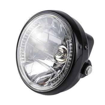 Luz Led nocturna de haz bajo de fácil instalación, bombilla halógena, faro delantero redondo de Moto de seguridad ABS, luz de intermitente para motocicleta