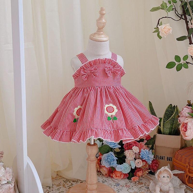 Купить детское летнее короткое платье в стиле «лолита» с подсолнухами