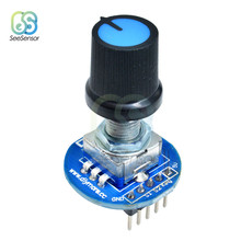 Rotary Encoder Module Controller Switch for Arduino Brick Sensor Development Round Audio Rotating Potentiometer Knob Cap(China)
