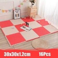 30x30x1.2cm 16Pcs EVA Foam Puzzle Mat Split Joint Play Mat Cartoon Patterns Soft Floor Carpet For Baby Crawling Exercise