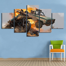 Home Decor Canvas Printed HD 5 Piece Pubg Video Game Hanging Paintings Modular Picture Living Room Poster Framed Wall Artworks