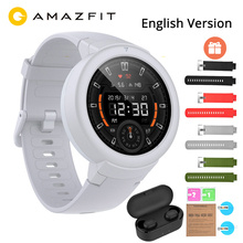 English Xiaomi Huami Amazfit Verge Lite GPS Smart Watch IP68 1.3 AMOLED Screen 20 Days Battery Life Verge Lite Wristwatch amazfit verge blue