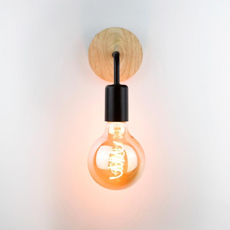 Wood Industrial Loft Wall Lamp Vintage Retro Decor Wall Light Fixtures For Living Room Home Indoor Sconces Lighting Decorative 3