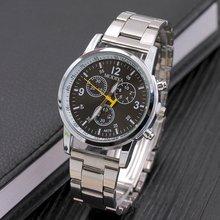 Metal Surface Steel Strip Fashion Casual Luxury Analog Quartz Watch Men