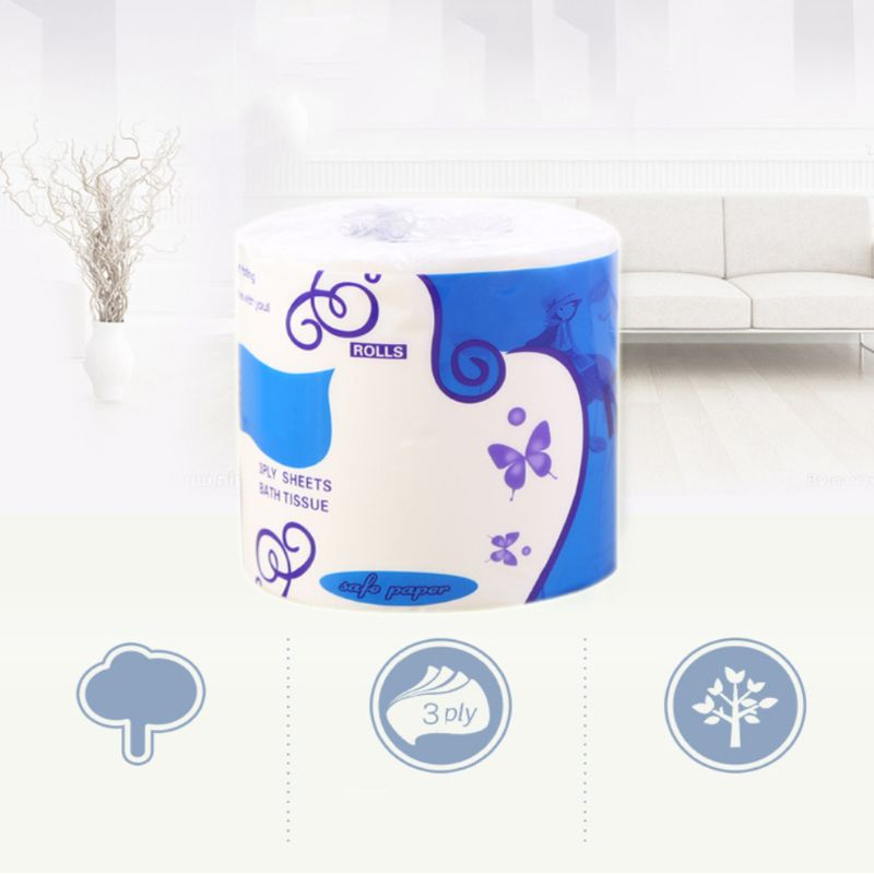 10x10cm Three Layer Toilet Tissue Home Bath Toilet Roll Paper Soft Toilet Paper X7YB