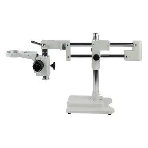 Image 1 - 유니버셜 더블 붐 랩 산업용 줌 Trinocular 스테레오 현미경 스탠드 홀더 브래킷 암 76mm Microscopio 액세서리