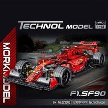 Série técnica 1100 pçs simulação f1 carro de corrida modelo blocos de construção criador carro brinquedos crianças crianças brinquedos de natal meninos presentes