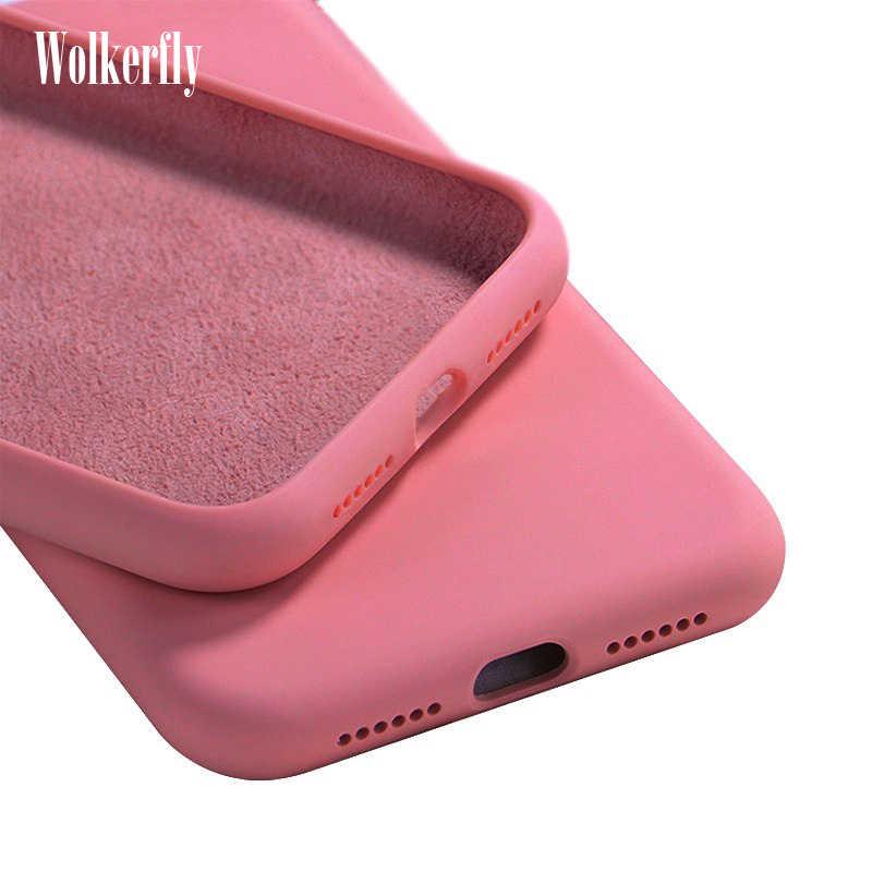 Cassa Del Telefono di Silicone Liquido per Xiao Mi Mi A3 A2 CC9 9 Se 9T Mi 9T 8 Lite 6X Sul Rosso Mi Nota 7 5 6 8 8T K20 Pro Rosso Mi 8 8A 7A Copertura