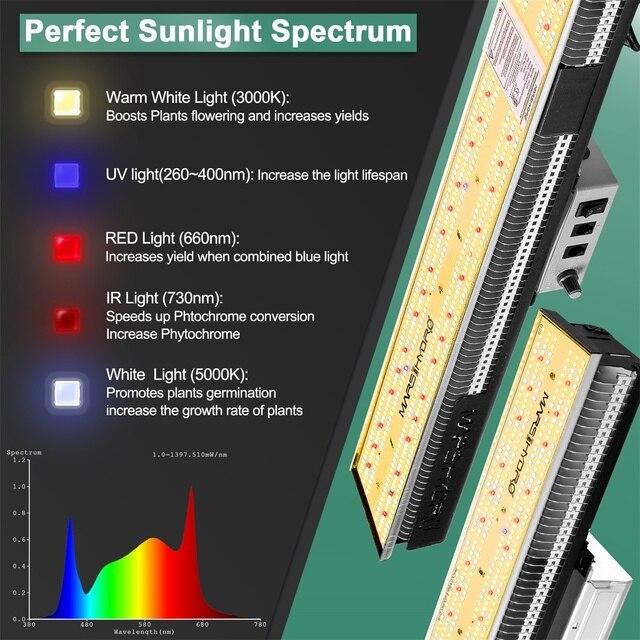 Mars Hydro SP 3000W Full Spectrum LED Grow Light 120x60x180 cm Indoor Tent Grow Kits  2