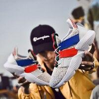 LIASOSO Men Casual Shoes Fashion Men Sneakers Breathable Mesh Air Cushion Walking Shoes Couple Lace Up Flat Sneakers Shoes X61