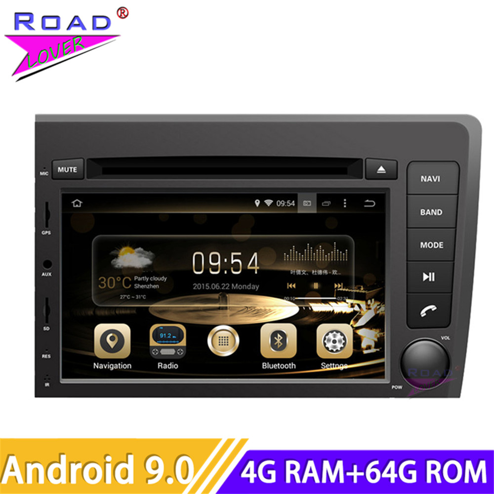 Roadlover Android 9.0 Car DVD Player <font><b>Radio</b></font> For <font><b>Volvo</b></font> <font><b>S60</b></font> V70 2001 2002 2003 2004 New Stereo GPS Navigation Automagnitol Two <font><b>Din</b></font> image