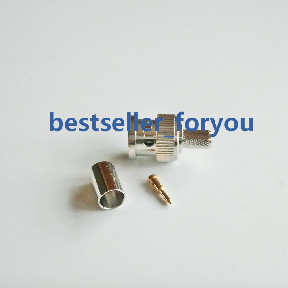 LMR240 Cable Pack of 5 BNC Male Plug Crimp Coax RF Connector for RG-8//x
