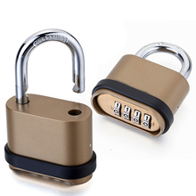 Four-Digit Number Combination Padlock Waterproof Lock for Garage Closet Door PUO88