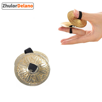 BeatBox 2 PCS of Belly Dance Texture Pattern Finger Cymbals Zills Musical Instrument Parts & Accessories image