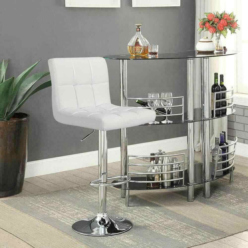 Fast Dispatch Set of 12 Counter Bar Swivel Chair Counter Stool Height  Adjustable Kitchen Chair High Chair Contemporary PU leather