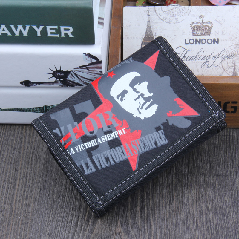 2019 New Punk Tri-fold Canvas Wallet Large Capacity Pocket Wallets For Men And Women Designer Casual Short Zipper Coin Purse